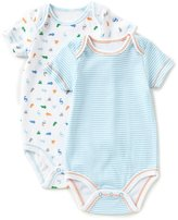 Starting Out Baby Boys Newborn-6 Months Striped/Dinosaur Short-Sleeve Bodysuit 2-Pack