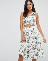 Wal G Floral Crop Top