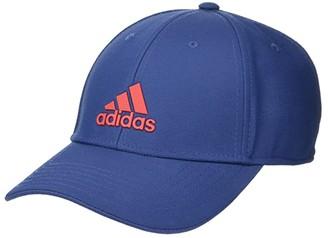 adidas Decision Structured Adjustable Cap (Tech Indigo Blue/Scarlet) Baseball Caps