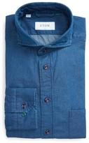 Eton Men's Slim Fit Denim Dress Shirt