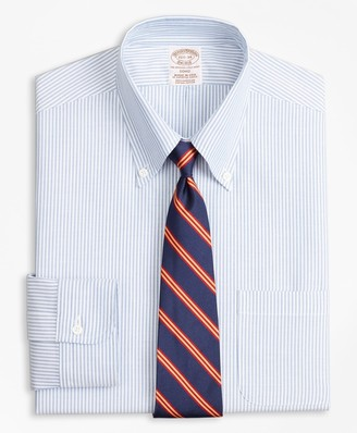 Ben Sherman Mens Slim Fit Bengal Stripe Spread Collar Dress Shirt