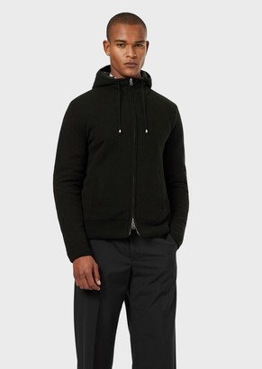 Emporio Armani Reversible, Quilted Blouson In A Wool/Cashmere Blend