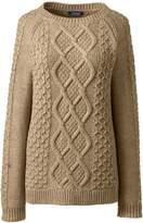 Lands'end Women's Plus Size Cozy-Lofty Aran Cable Sweater
