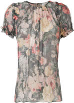 Zimmermann washed floral print blouse