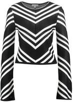 Warehouse MONO CHEVRON Jumper black/white