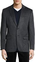 Neiman Marcus Cashmere Two-Button Blazer, Gray