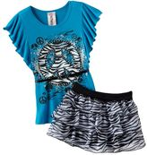 Knitworks belted flutter-sleeve top and scooter set - girls 7-16