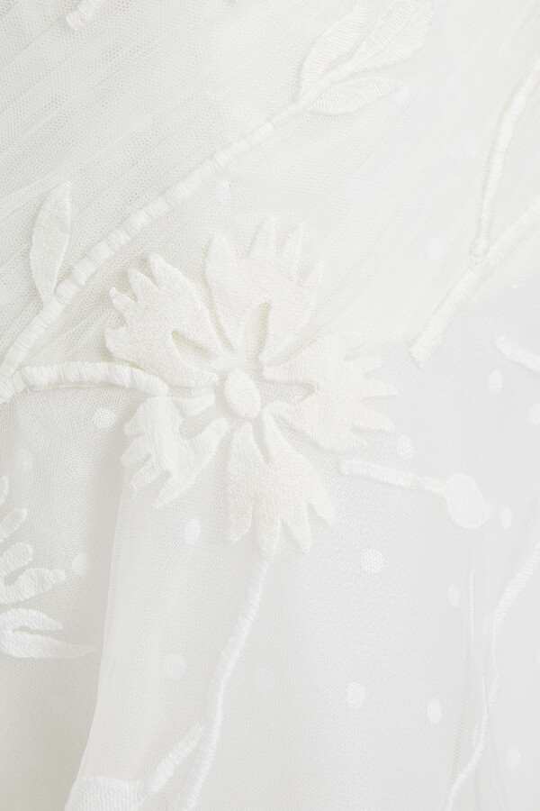Thumbnail for your product : Carolina Herrera Anouk Strapless Embroidered Polka-dot Tulle Bridal Gown