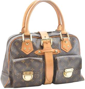 Louis Vuitton Manhattan Brown Cloth Handbag