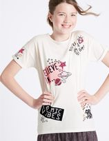 Marks and Spencer Pure Cotton Short Sleeve Top (3-14 Years)