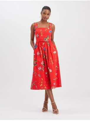 Oscar de la Renta Botanical Garden Poplin Dress