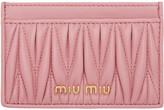 Miu Miu Pink Matelassé Card Holder