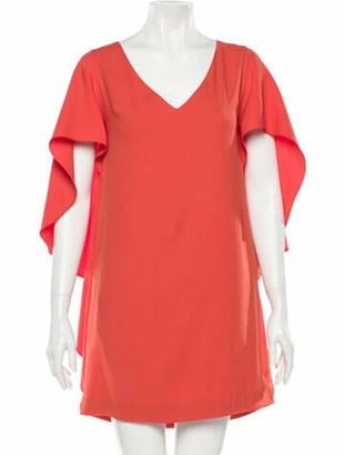 Opening Ceremony V-Neck Mini Dress w/ Tags Orange