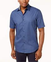 Tasso Elba Men's Diamante-Print Shirt, Created for Macy's