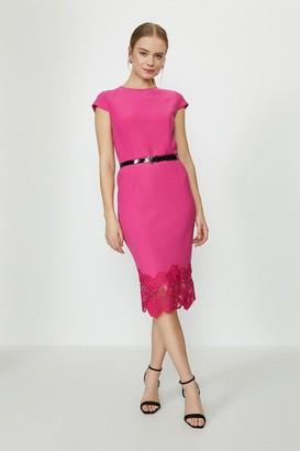 Coast Crepe and Lace Shift Dress