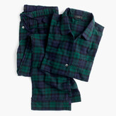 J.Crew Petite Black Watch flannel pajama set