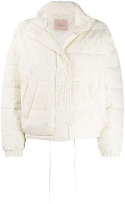 Twin-Set Lace Puffer Jacket