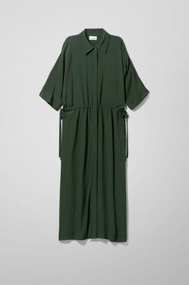 Weekday Cat Dress - Green