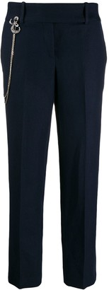 Ermanno Scervino straight-leg chain detail trousers