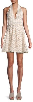 Free People Do The Twist Check Mini Dress