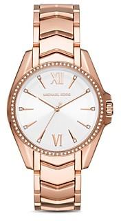 Michael Kors Whitney Chevron Link Bracelet Watch, 38mm