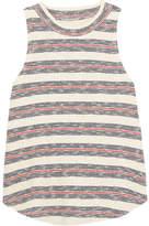Madewell Mockneck Striped Ribbed Cotton-blend Tank