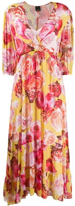 Pinko V-neck floral print dress
