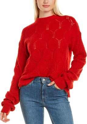 Autumn Cashmere Diamond Stitch Cashmere Sweater