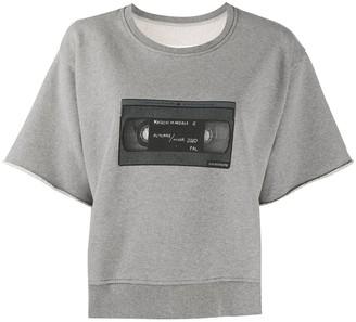MM6 MAISON MARGIELA cassette print T-shirt