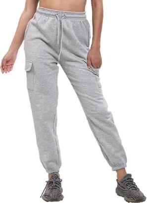 Generic Ladies High Waist Jogging Bottoms Joggers Active Gym Pants Trousers Plus BigSize (22