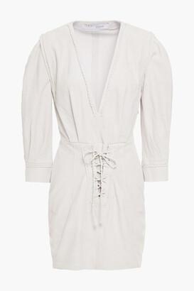 IRO Dhitia Lace-up Suede Mini Dress