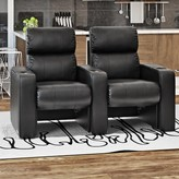 "Sangria 44"" Manual Rocker Recline Home Theater Row Seating (Row of 2) Latitude Run Body Fabric: Smartsuede"