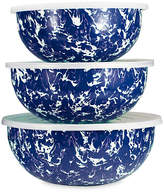 Golden Rabbit Asst. of 3 Swirl Mixing Bowls - Cobalt/White