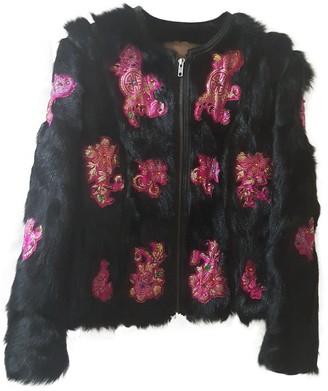 Galliano Black Fur Jacket for Women Vintage