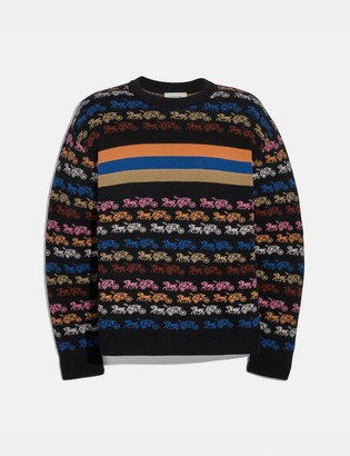 Coach Rainbow Horse And Carriage Sweater