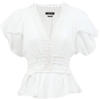 Isabel Marant Yemila Plisse-voile Top - White