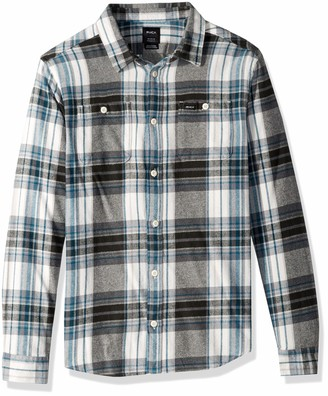 RVCA Men's Ludlow Plaid Flannel White Medium
