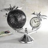 Pier 1 Imports Globe & Airplane Desk Clock