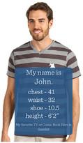 U.S. Polo Assn. V-neck T-shirt with Medium Stripe