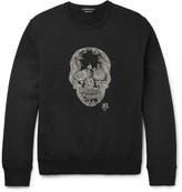 Alexander Mcqueen - Embellished Loopback Cotton-jersey Sweatshirt