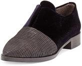 Coclico Albaz Velvet Pointed-Toe Loafer, Black
