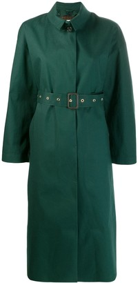 MACKINTOSH ROSEWELL Cedar Green Oversized Single Breasted Trench Coat | LR-1014D