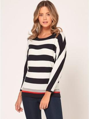 M&Co Petite stripe batwing jumper
