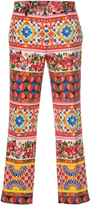 Dolce & Gabbana Printed Crop Trousers