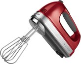 KitchenAid 9-Speed Digital Hand Mixer with Turbo Beater II Accessories and Pro Whisk - Candy Apple Red - KHM926CA