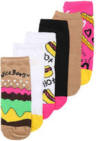 Betsey Johnson Burger No Show Socks - 6 Pack - Women's
