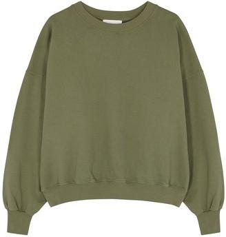 American Vintage Wititi army green cotton sweatshirt
