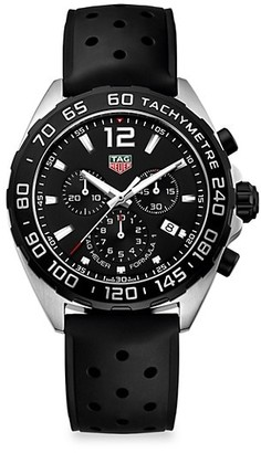 Tag Heuer Formula 1 43MM Stainless Steel & Rubber Strap Quartz Chronograph Watch