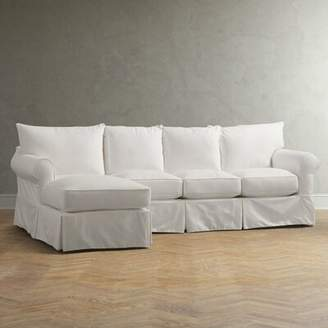 Birch Lane Jameson Upholstered Sofa with Chaise Heritage Fabric: Belsire Berry, Orientation: Left Hand Facing