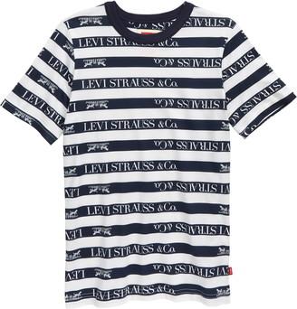 Levi's Logo Stripe Ringer T-Shirt